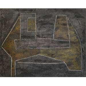 Aldo Bonadei - 122 x 150 - óleo sobre Juta - Ass. Verso – Geometrico