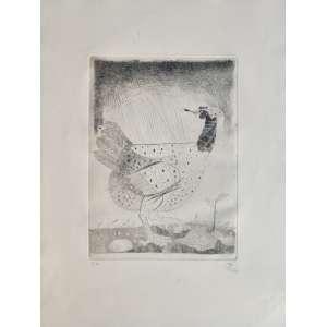 Floriano Teixeira - gravura em metal - 40x30cm - acid -1988