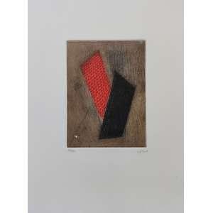 Arthur Luiz Piza - Le rouge du noir - gravura em metal com relevo - tiragem 33/90 - 38x28cm me - medida com moldura 49x43cm - acid - s/ data