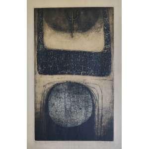 Isabel Pons - Noturno - gravura em metal - tiragem 15/30 - Prêmio I Bienal de Caracas 1968 - 57x37cm - acid - 1961