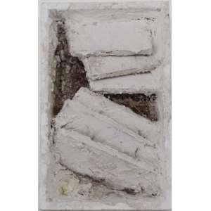 Arthur Luiz Piza - caixa de madeira e gesso - T983 - 13X8cm - assinado - s/ data