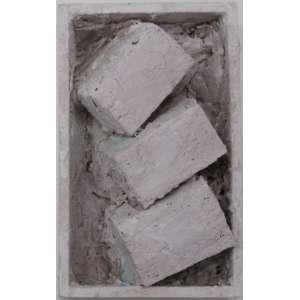 Arthur Luiz Piza - caixa de madeira e gesso - T973 - 13X8cm - assinado - s/ data