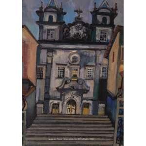 Jenner Augusto - Igreja de Santana - ost - 81x56cm - acid - 1956