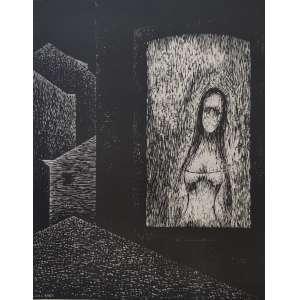 Lula Cardoso Ayres - gravura off set - 32x26cm ass. na chapa