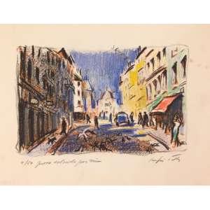 Sergio Telles - gravura colorida pelo próprio artista - 18x20cm - tiragem 4/50 - acid