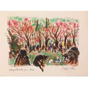 Sergio Telles - gravura colorida pelo próprio artista - 18x20cm - acid