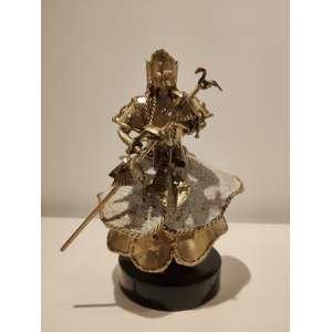 Tatti Moreno - Oxalá - escultura em metal - 20x14x13cm - assinada - 2012