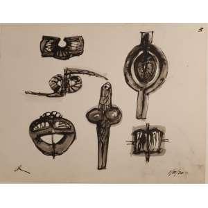Mário Cravo Jr - nanquim - 21,5x17,5cm - acie