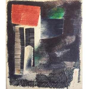 Floriano Teixeira - caneta esferográfica - 15x12cm - acid - 1967