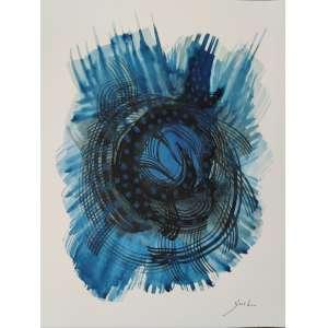 Guel - Pinaúnas - aquarela sobre cartão - 32x24cm - acid - s/ data