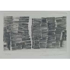 Sérvulo Esmeraldo - gravura em metal com relevo - tiragem 30/35 - 20x30cm - acid - s/ data