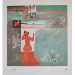 Floriano Teixeira - gravura - 55cm x 46cm - tiragem 93/100 - acid (sem moldura)