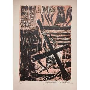 Hansen Bahia - Via Crucis - xilogravura - 42x28cm - 35/50 - acid - 1967