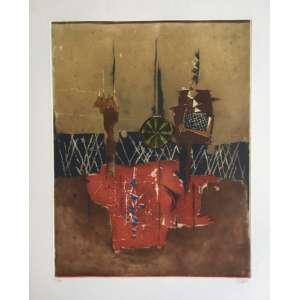 Johny Friedlaender - gravura em metal - 75x76cm ME - acid
