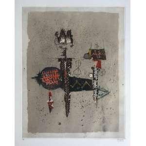 Johny Friedlaender - gravura em metal - 75x56cm ME - acid