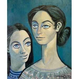 Carlos Bastos - Figuras Femininas - ost - 72x60cm - acid - 1968 (obra restaurada)