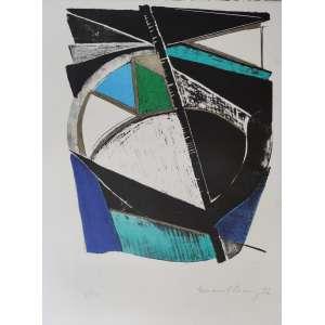 Emanoel Araújo- xilogravura - tiragem 5/10 - 71x50cm ME - acid - 1972 (sem moldura)