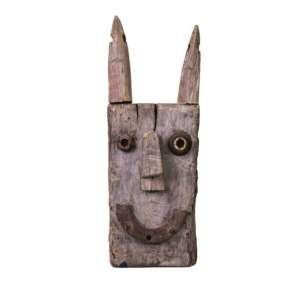 Mário Cravo Jr. - escultura em madeira cabeça - 100x38x20cm - 2005