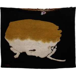 Manabu Mabe - Sem título - tapeçaria em algodão - medindo 148x188cm.- assinado no canto inferior esquerdo.
