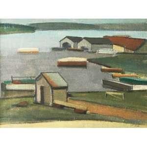Arcangelo Ianelli - Barcos - óleo sobre tela – medindo 45x60cm. assinado e datado 57 no canto inferior direito.(Certificado do Instituto FOST89 - Participou da retrospectiva do artista no MAM).