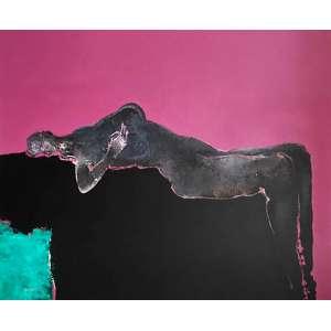 Manabu Mabe - Sem título - óleo sobre tela - medindo 153x183cm. assinado e datado 73 no canto inferior esquerdo.