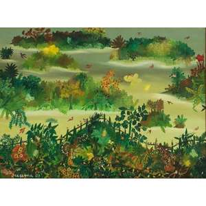 Iracema Arditi - Um certo momento - óleo sobre tela – medindo 54x73cm.- assinado e datado 80 no canto inferior direito.