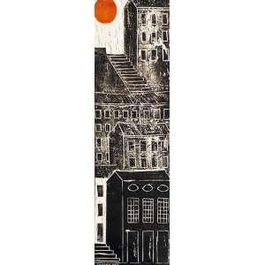 Calasans Neto - A subida - óleo sobre placa – medindo 79x25cm.- assinado no canto inferior esquerdo e datado 73 no verso.