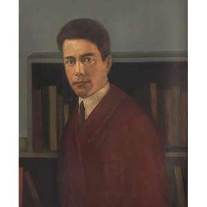 Tarsila do Amaral - Retrato do poeta Felipe D'Oliveira - óleo sobre tela – medindo 70x60cm.- assinado no canto inferior direito. (Reproduzido no catálogo raisonné da artista, Vol.I, pág.203).