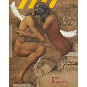 Sérgio Ferro - Paolo e Francisca - acrílico, crayon e pastel sobre tela – medindo 100x80cm.- assinado no canto inferior esquerdo e datado 2003 no verso.