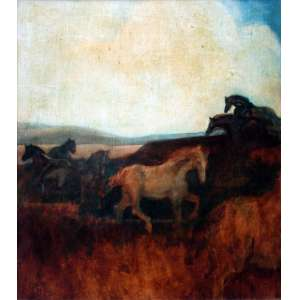Mário Gruber, Cavalos, Óleo sobre tela, 72 alt X 59 larg (cm), acie e verso, Ano: 1991