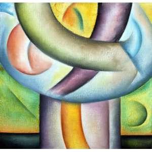 Antonio H. Amaral, Composição, Óleo sobre tela, 40 alt X 40 larg (cm)