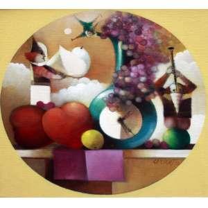 Rapoport, A mesa, Óleo sobre tela, 40 alt X 40 larg (cm), acid e verso, Ano: 1978