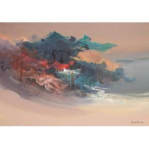 Fukushima, Para o Amanha, Óleo sobre tela, 110 alt X 135 larg (cm), acid -Histórico: Quadro esta na Capa do Catalago e Exposição Galeria Andre 1987 com Certificado. e numeração 105