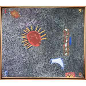 Siron Franco, Composição, Óleo sobre tela, 135 alt X 155 larg (cm), acid, Ano: 1990