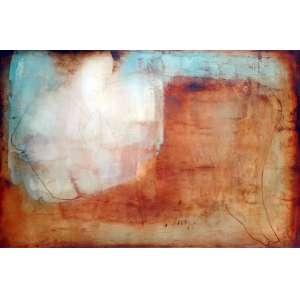 Carlos Araújo, Maternidade em siena, Óleo s/ tela s/madeira, 110 alt X 160 larg (cm), acid -Histórico: Obra certificado pelo próprio artista.