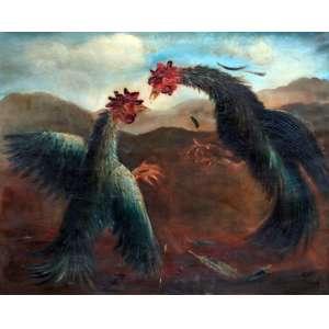 Orlando Teruz, Rinha de Galo, Óleo sobre tela, 80 alt X 100 larg (cm), acid, Ano: 1946