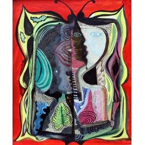 Emiliano Di Cavalcanti, Metamorfose, Técnica mista sobre papel, 42 alt X 32 larg (cm), acid, Ano: 1962