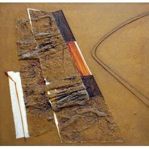 Wakabayashi, Composição em Marrom, Óleo sobre tela, 73 alt X 73 larg (cm), acid, Ano: 1970