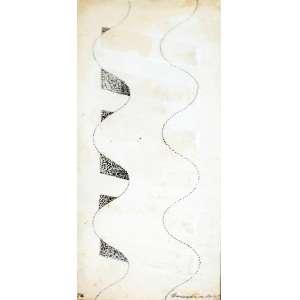 Sérvulo Esmeraldo, Composição, Desenho, 14 alt X 5 larg (cm), acid, Ano: 1976