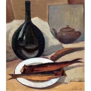 Arcângelo Ianelli, Composição, Óleo sobre tela, 67 alt X 57 larg (cm), acid, Ano: 1954