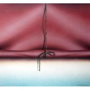 Carlos Eduardo Zimmermann, Cortina Vermelha, Pastel Encerrado S/Placa, 54 alt X 54 larg (cm), acid e verso, Ano: 2004