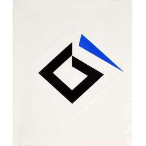 Omar Rayo, BESEB, Litografia, 76 alt X 57 larg (cm), acid, P/A