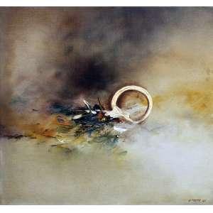 Danilo Di Prete, Abstrato, Óleo sobre tela, 40 alt X 40 larg (cm), acid, Ano: 1961