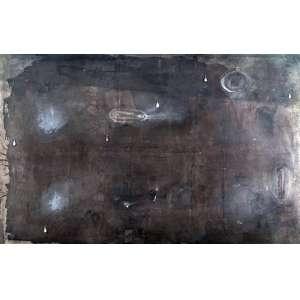 Daniel Senise - Chuva - 210 x 334 cm - Óleo e gotas de chumbo sobre tela - ass. verso e titulado - 1988 - Obra Reproduzido em catálogo Phillips (New York)- 14-15 de Novembro 2011