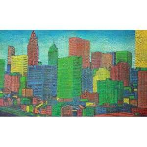 Cláudio Tozzi, New York, Óleo s/ tela s/madeira, 50 alt X 70 larg (cm), acid e verso, Ano: 1985