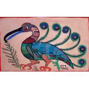 Francisco da Silva, Pássaro, Acrílica sobre tela, 43 alt X 63 larg (cm), acid, Ano: 1978
