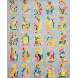 Ivald Granato, Composição, Acrílica sobre tela, 75 alt X 58 larg (cm), acid, Ano: 1996