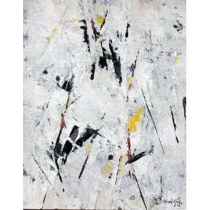 Heinz Kuhn, Abstrato 2, Técnica mista sobre cartão, 31 alt X 23 larg (cm), acid, Ano: 1962