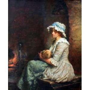 Wabreak Speate, Maternidade, Óleo sobre tela, 44 alt X 34 larg (cm), acid