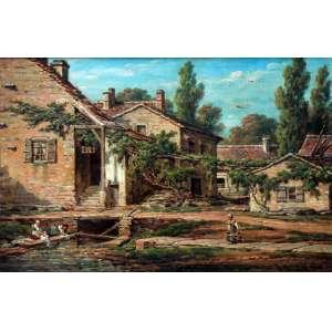 Hery de Getey, Cena Cotidiana, Óleo sobre tela, 30 alt X 40 larg (cm), acid, Ano: 1885